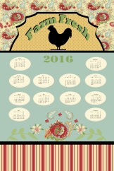 Farm Fresh 2016 Tea Towel
